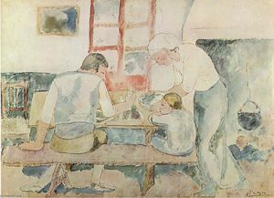 Pablo Picasso - Dinner time (Evocation of Horta d'Ebre)