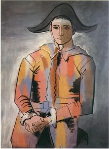 Pablo Picasso - Harlequin with his hands crossed (Jacinto Salvado)