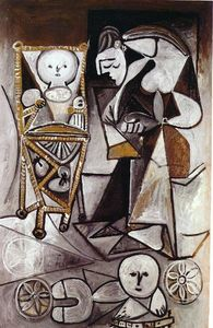 Pablo Picasso - Drawing woman surrounded by her children