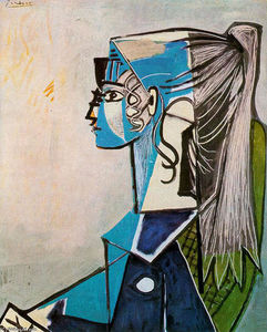 Pablo Picasso - Portrait of Sylvette David in green chair