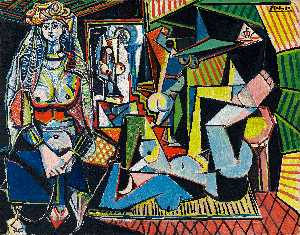 Pablo Picasso - Women of Algiers (Version O) - (paintings reproductions)