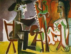 Pablo Picasso - Painter and his model