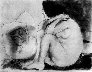 Pablo Picasso - Sleeping man and sitting woman