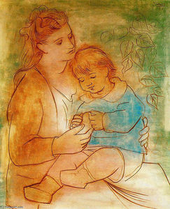 Pablo Picasso - Mother and child