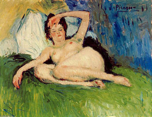 Pablo Picasso - Jeanne (Reclining nude)
