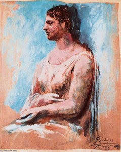 Pablo Picasso - Seated woman (8)