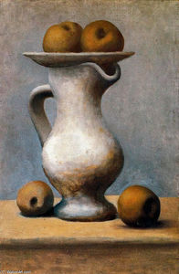 Pablo Picasso - Still life with pitcher and apples