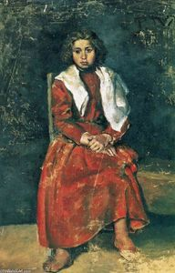 Pablo Picasso - The barefoot girl