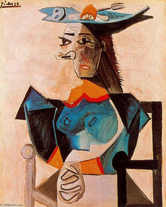 Pablo Picasso - Seated Woman with Fish