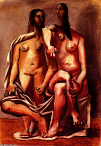 Pablo Picasso - Two bathers