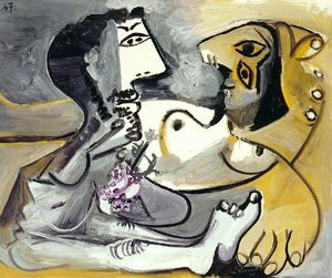 Pablo Picasso - Naked man and woman