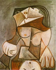Pablo Picasso - Crouching female nude