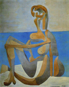 Pablo Picasso - Seated bather on the beach