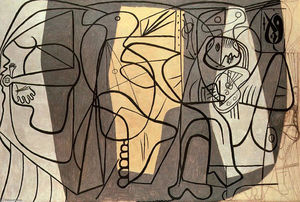 Pablo Picasso - Artist and his model