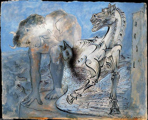 Pablo Picasso - Faun, horse and bird