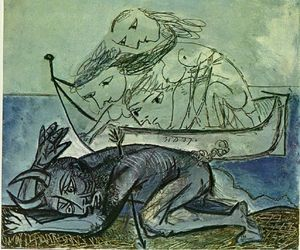 Pablo Picasso - Minotaur is wounded