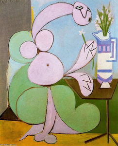 Pablo Picasso - Woman with bouquet