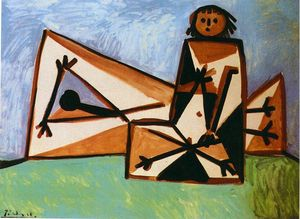 Pablo Picasso - Man and woman on the beach