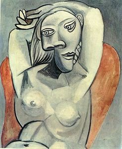 Pablo Picasso - Woman sitting in red armchair