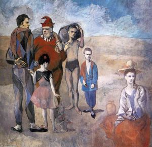 Pablo Picasso - Family of acrobats (Jugglers)