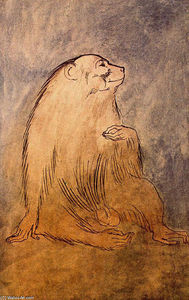 Pablo Picasso - Seated monkey
