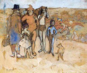 Pablo Picasso - Family of acrobats (study)