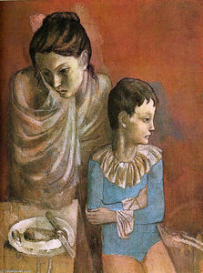 Pablo Picasso - Mother and child (Baladins)