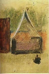 Pablo Picasso - Bed with mosquito nets