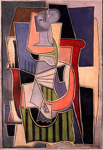 Pablo Picasso - Woman sitting in an armchair (11)