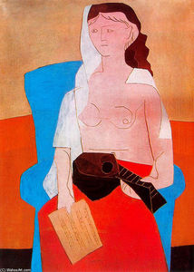 Pablo Picasso - Woman with mandolin