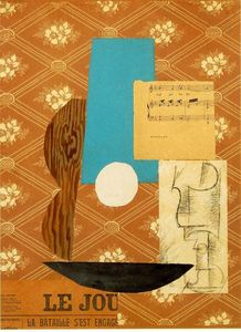 Pablo Picasso - Guitar, Sheet music and Wine glass