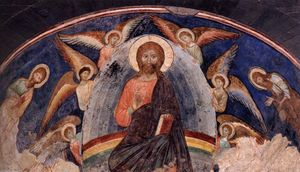 Manfredino Da Pistoia - Christ in Glory among Angels