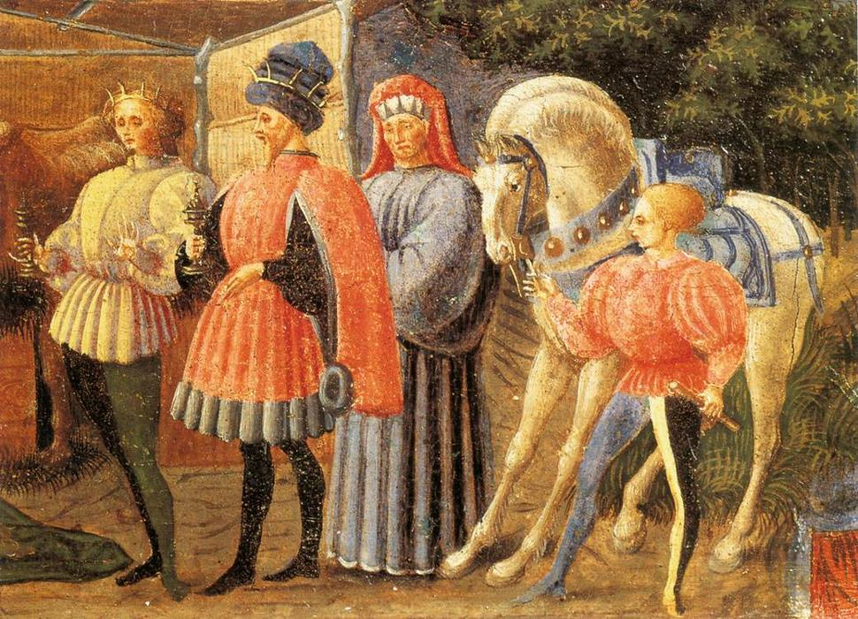 The Adoration of the Magi, 1435 by Paolo Uccello (1397-1475, Italy)