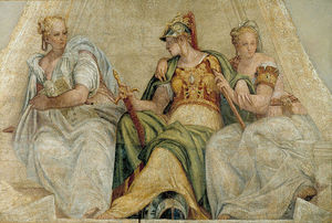 Paolo Veronese - Minerva between the Geometry and Arithmetic