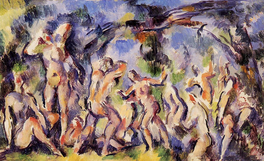 Study of Bathers, 1902 by Paul Cezanne (1839-1906, France) | Reproductions Paul Cezanne | WahooArt.com