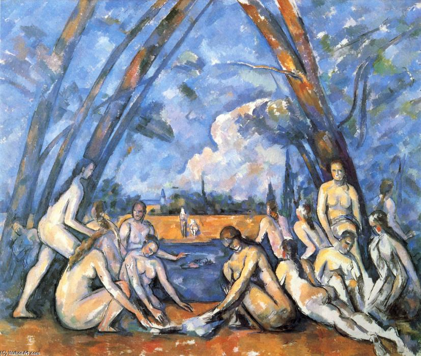 Order Famous Paintings Reproductions : Large Bathers, 1906 by Paul Cezanne (1839-1906, France) | WahooArt.com
