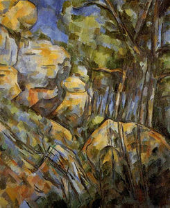 Paul Cezanne - Rocks near the Caves below the Chateau Noir