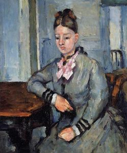 Paul Cezanne - Madame Cezanne Leaning on a Table