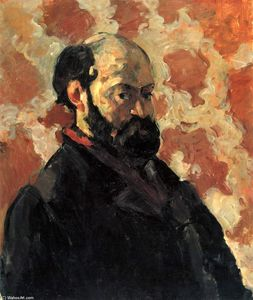 Paul Cezanne - Self-portrait in front of pink background