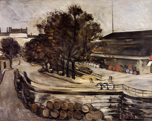 Paul Cezanne - The Halle aux Vins, seen from the rue de Jussieu