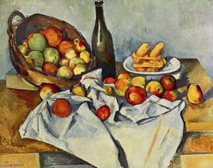 Paul Cezanne - Basket of Apples - (Famous paintings reproduction)