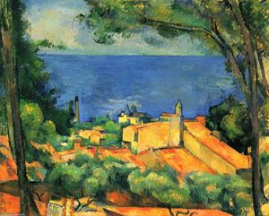 Paul Cezanne - L-Estaque with Red Roofs