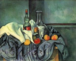 Paul Cezanne - Still life, peppermint bottle