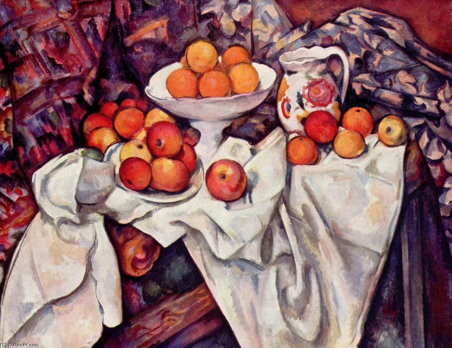 Apples and Oranges, 1900 by Paul Cezanne (1839-1906, France) | Painting Copy | WahooArt.com