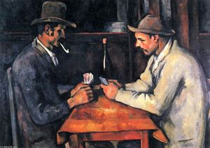 Order Art Reproductions | The Card Players, 1893 by Paul Cezanne (1839-1906, France) | WahooArt.com
