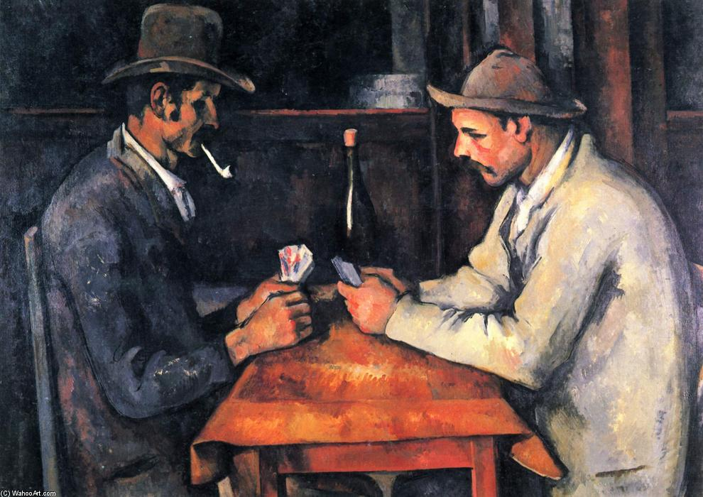 The Card Players, Oil On Canvas by Paul Cezanne  (order Fine Art painting copy Paul Cezanne)
