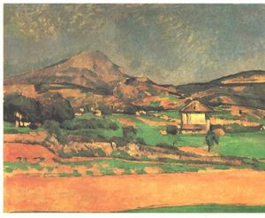 Paul Cezanne - Plain by Mont Sainte-Victoire