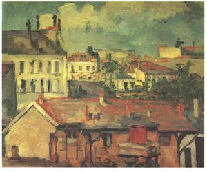 Paul Cezanne - The roofs