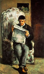 Paul Cezanne - The Artist's Father Reading his Newspaper