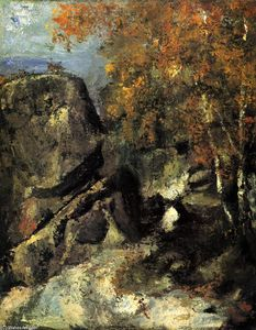 Paul Cezanne - Rock in the Forest of Fontainbleau